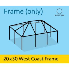 20 X 30 West Coast Single Tube Frame Replacement