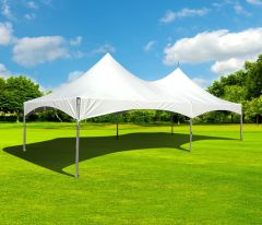 15' x 30' High Peak Frame Party Tent - White