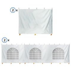 15' x 30' High Peak Frame Sidewall Kit with 8' Walls, Velcro, and Clip Connections
