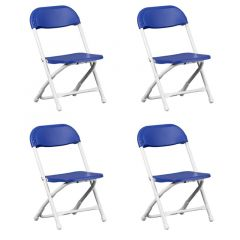 Kids Blue Poly Folding Chair - 4 Pack
