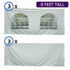 30' x 30' Party & Canopy Tent Premium Blockout Sidewall Kit for 8' Tent Sides