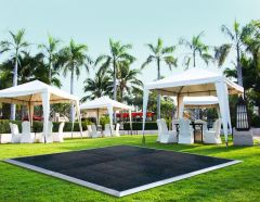 15' x 15' Commercial Portable Black Dance Floor