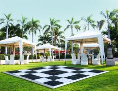 15' x 15' Commercial Portable Black/White Checkered Dance Floor