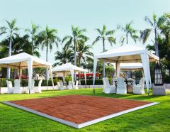 20' x 20' Commercial Portable Wood Finish Dance Floor