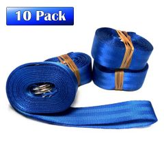 "1.5"" x 13' Double D-Ring Nylon Web Strap - 10 Pack"