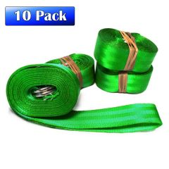 "2"" x 20' Double D-Ring Nylon Web Strap - 10 Pack"