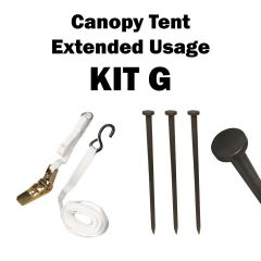 4 Stake Speedy Canopy Tent Extended Usage, Kit G