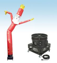 18' Fly Guy Inflatable Tube Man with Blower - Santa Claus 2