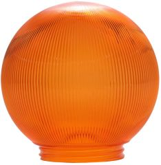 6-Inch Replacement Globe Light Cover, Prismatic Orange