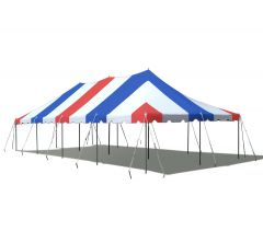 20' x 40' Premium Canopy Pole Party Tent - Red, White and Blue