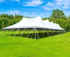 60' x 120' Premium Sectional Canopy Pole Party Tent - White