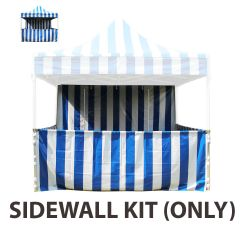 10' x 10' 50mm Speedy Pop-up Carnival Tent Sidewall Kit, Blue and White Strip