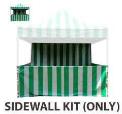 10' x 10' 50mm Speedy Pop-up Carnival Tent Sidewall Kit, Green and White Strip