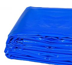 10' x 20' Heavy Duty Waterproof PVC Vinyl Tarp - Blue