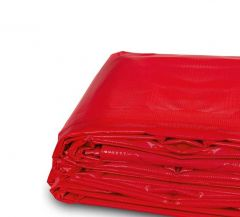 6' x 26' Heavy Duty Waterproof PVC Vinyl Tarp - Red