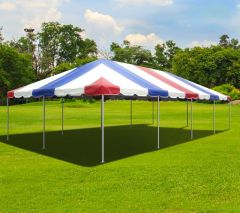20' x 40' West Coast Frame Party Tent - Red, White and Blue