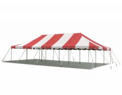 20' x 40' Weekender Standard Canopy Pole Tent - Red