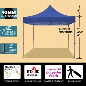 10' x 10' 40mm Speedy Pop-up Party Tent - Blue