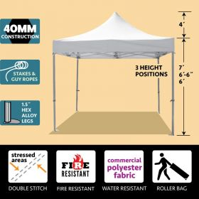 10' x 10' 40mm Speedy Pop-up Party Tent - White