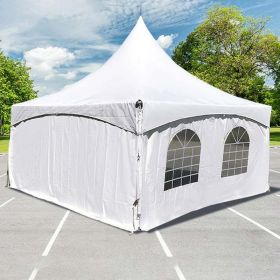 15' x 15' High Peak Frame Sidewall Kit with 8' Walls, Velcro, and Clip Connections