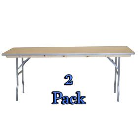 "96"" Rectangle Wood Seminar Table - 2 Pack"