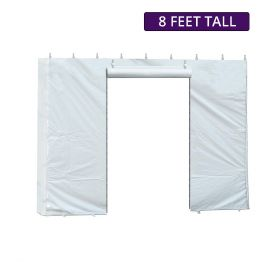 8' x 10' Party & Canopy Tent Standard Sidewall with Zipper Door
