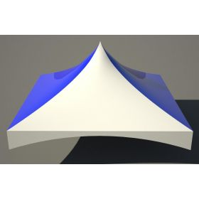 20' x 20' High Peak Frame Top Only - Solid Blue And White