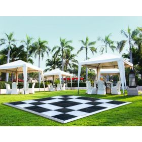 21' x 21' Commercial Portable Black/White Checkered Dance Floor
