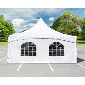 8' x 20' High Peak Frame Party & Canopy Tent Premium Blockout Cathedral Sidewall