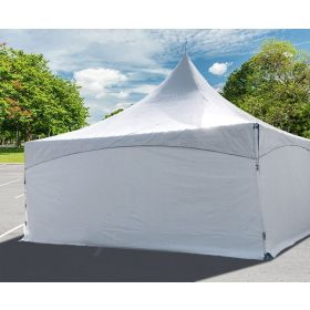 8' x 10' High Peak Frame Party & Canopy Tent Premium Blockout Solid Sidewall