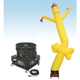 18' Fly Guy Inflatable Tube Man with Blower - Yellow Arrow