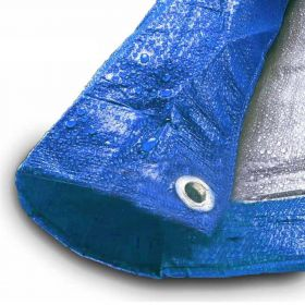 30' x 60' Blue & Silver Multi-Purpose Water Resistant Poly Tarp Cover