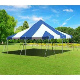 20 x 20 Premium Canopy Pole Party Tent - Blue and White
