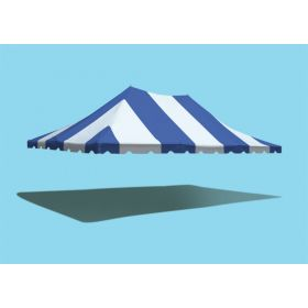 20' x 30' Premium Pole Party Tent Top - Blue and White