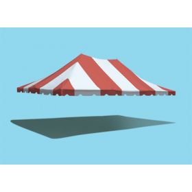 20' x 30' Premium Pole Party Tent Top - Red and White