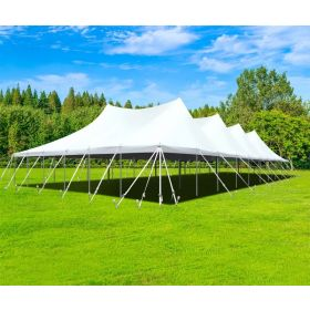60' x 90' Premium Sectional Canopy Pole Party Tent - White