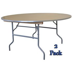 "72"" Diameter Round Wood Table 2 pack"