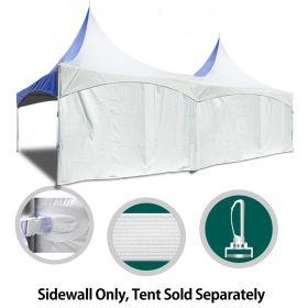 8' x 30' High Peak Frame Party & Canopy Tent Premium Blockout Solid Sidewall