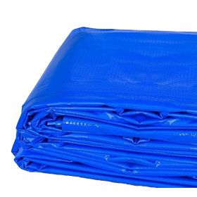 20' x 20' Heavy Duty Waterproof PVC Vinyl Tarp - Blue