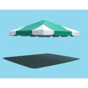 10' x 10' West Coast Frame Party Tent Top - Green and White