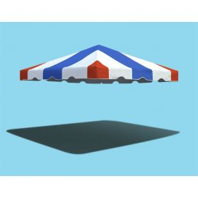 10' x 10' West Coast Frame Party Tent Top - Red, White, and Blue