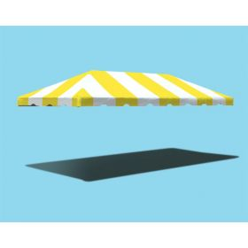 10' x 20' West Coast Frame Party Tent Top - Yellow and White