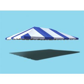 20' x 30' West Coast Frame Party Tent Top - Blue and White