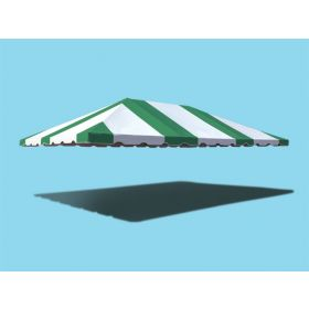 20' x 30' West Coast Frame Party Tent Top - Green and White