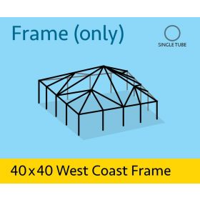 40' x 40' Replacement West Coast Tent Frame Only