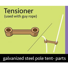 Pole Tent Guy Rope Tensioner - 10 Pack