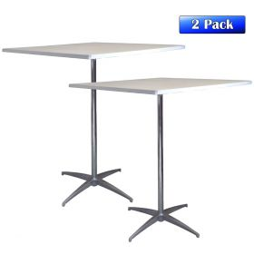 """36"""" Square Adjustable Height Cocktail Bistro Table - 2 pack"""