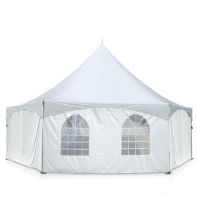 40' x 40' Hexagon High Peak Frame Sidewall Kit with Velcro & Clip Connections