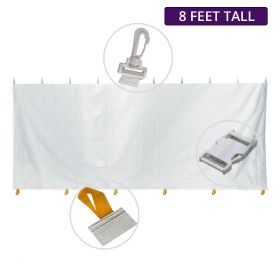 8' x 10' Party & Canopy Tent Premium Blockout Solid Sidewall