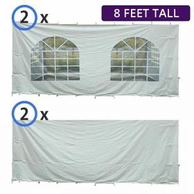20' x 30' Party & Canopy Tent Premium Blockout Sidewall Kit for 8' Tent Sides